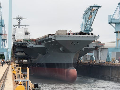 The carrier Gerald R. Ford, with its array of technological