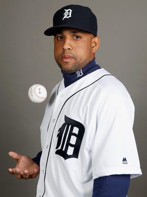 Francisco Rodriguez of the Detroit Tigers poses during photo day at Joker Marchant Stadium on Feb. 27, 2016, in Lakeland, Florida.