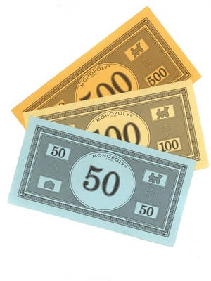 This is fake money from the boardgame Monopoly.