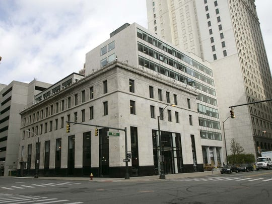 The new home of the Detroit Free Press at 160 W. Fort