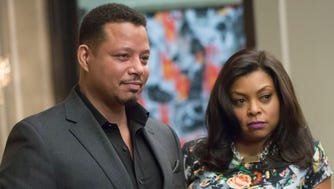"EMPIRE: Lucious (Terrence Howard, L) and Cookie (Taraji P. Henson, R) have a meeting in the ""Sins of the Father"" episode of EMPIRE airing Wednesday, March 11 (9:01-10:00 PM ET/PT) on FOX. ©2015 Fox Broadcasting Co. CR: FOX Chuck Hodes/FOX"