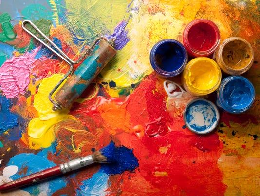 Mess in the artstudio