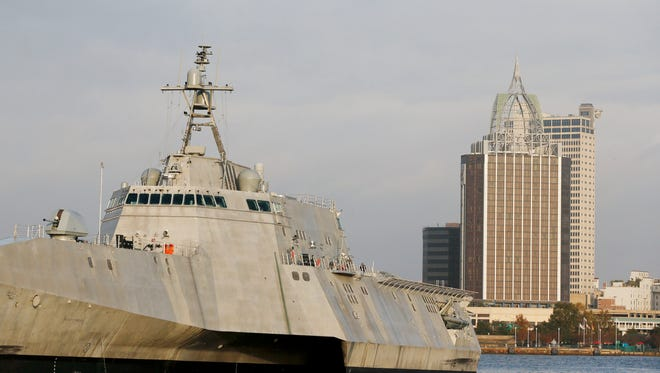 The USS Gabrielle Giffords, pictured on Nov. 30, 2016, was built by Austal USA in Mobile, Ala., has completed testing in the Gulf of Mexico and is scheduled to be commissioned in mid-2017.