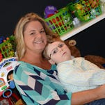 Stacy Halstead with her son, Tripp.