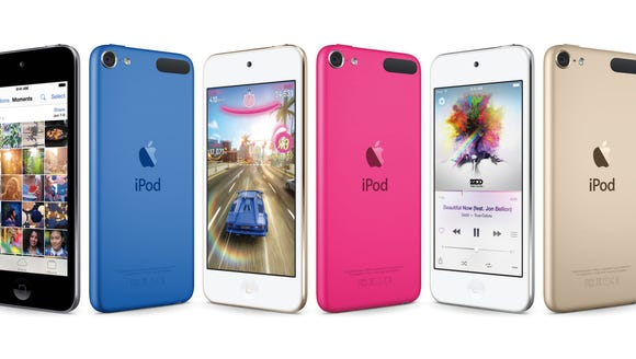 The new line of iPod Touch models.