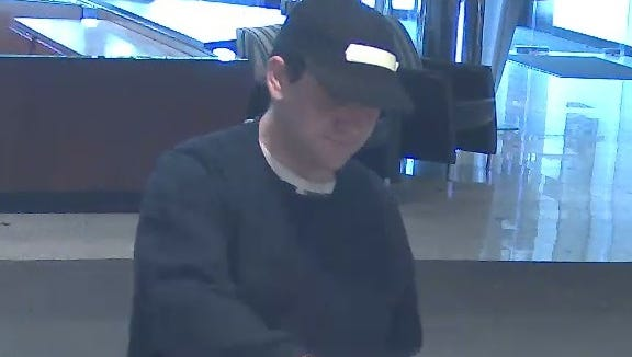Police say this man robbed a TD Bank branch in Evesham on Saturday.