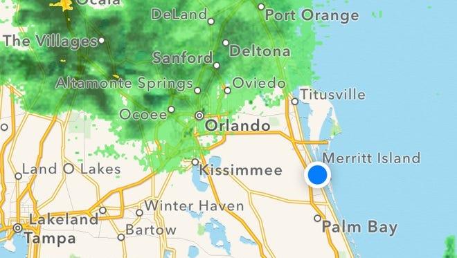 Rain isn't far off.