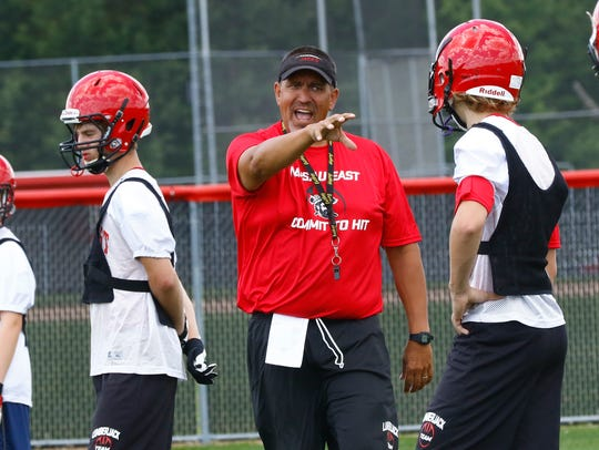 East coach Tom Tourtillott is in his third season leading