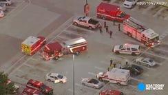 Nine people were hurt when a gunman opened fire on