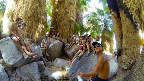 Jonathan Lee takes a photo with his GoPro while hiking with his friends. (Photo courtesy of Jonathan Lee)
