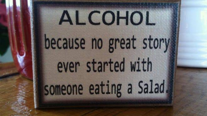 Humorous signs dot the tasting room at Seneca Lake-based Monello Winery. Provided photo.
