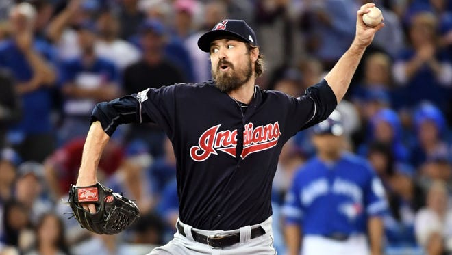 Cleveland's Andrew Miller looks a bit like Kevin Love of the Cavaliers.