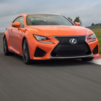 Lexus RC-F is at home on the track.
