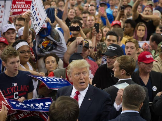 Donald Trump Holds Campaign Rally In Erie, PA