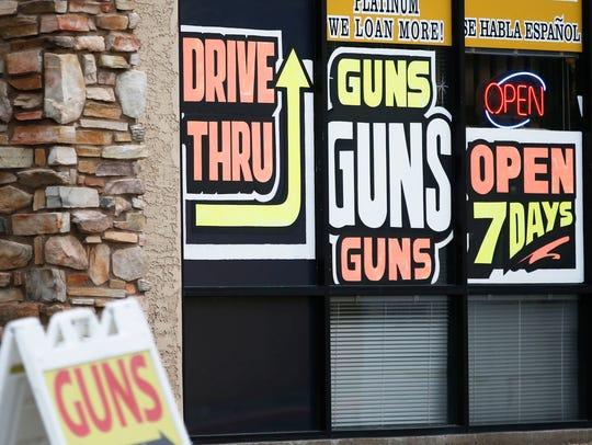 A pawn shop in South. Phoenix.