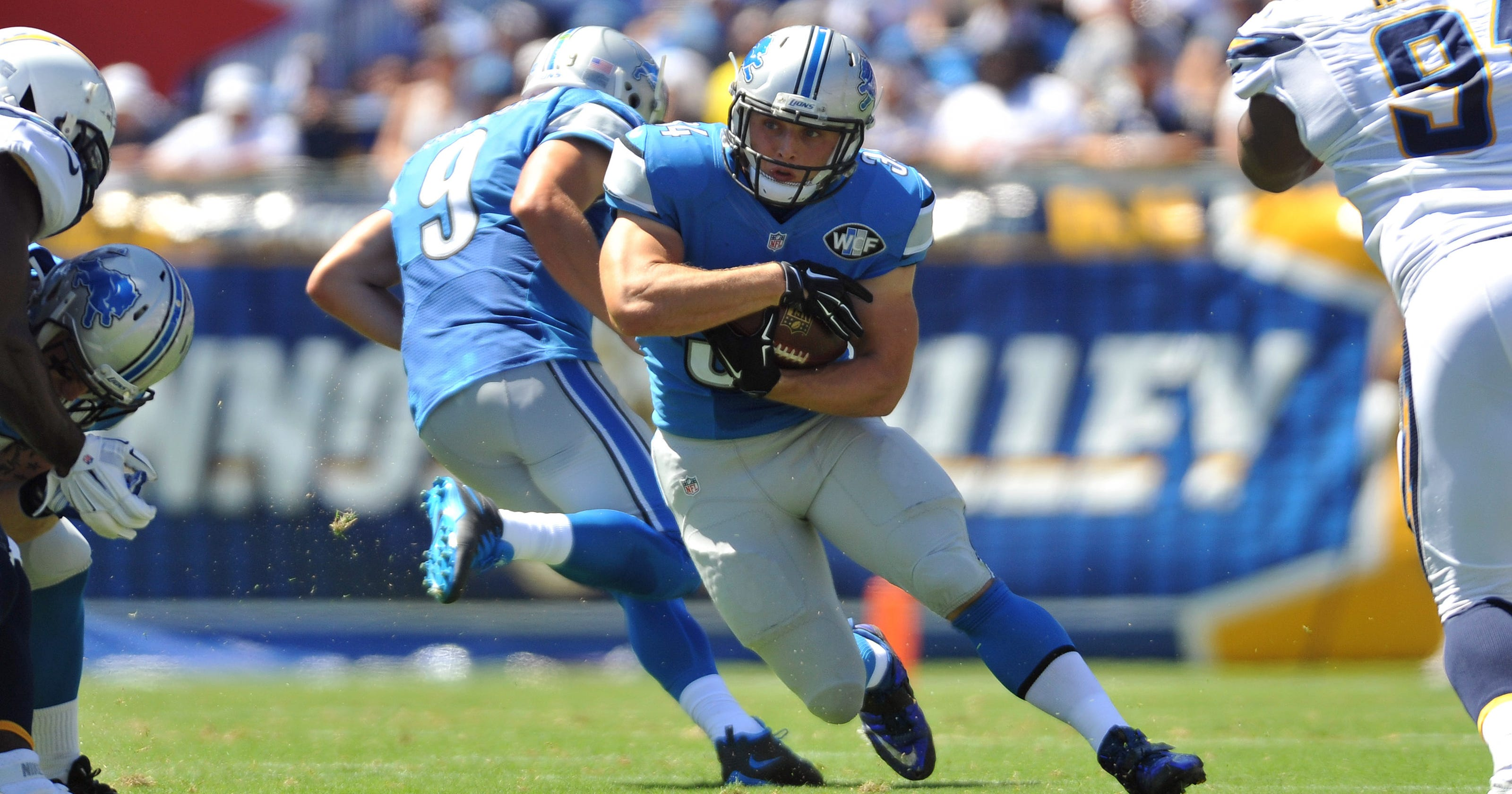 buy online af378 d0483 Zach Zenner ready to run again for Detroit Lions