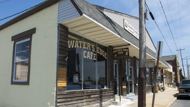 A robbery was reported at the Water's Edge Cafe in Crisfield at 7:30 a.m. Wednesday.