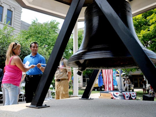 A replica of the Liberty Bell will be at Courthouse Square, as part of the Fire Over the Fox celebration in Green Bay.