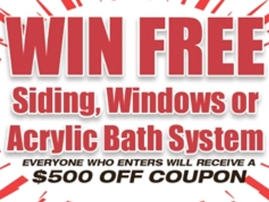 Don't miss your chance to win! Enter to win FREE Siding, Windows or Acrylic Bath System through 7/31.