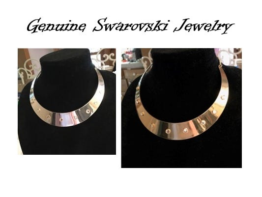 Get this beautiful Genuine Swarovski Crystal neck collar for only $47! Limited time offer! Only while supplies last!