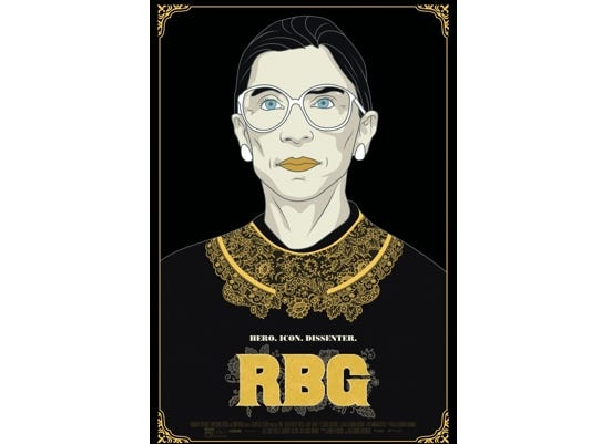 "Join the Asheville Movie Guys for a movie screening of ""RBG"" at the Fine Arts Theatre, May 21 at 7:00 pm."