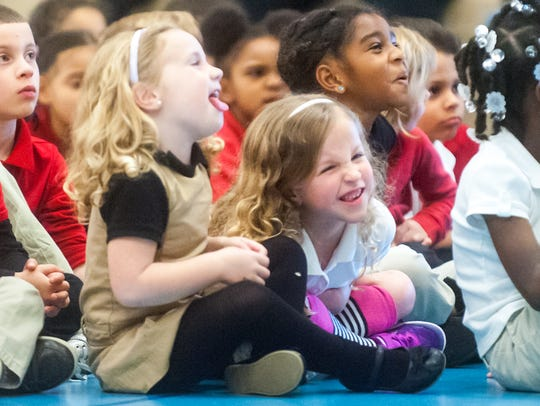 Petway Elementary School students react to hearing