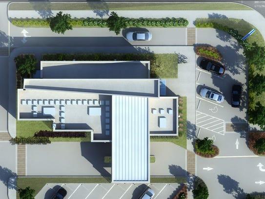 Aerial rendering of what the Pinnacle bank will look