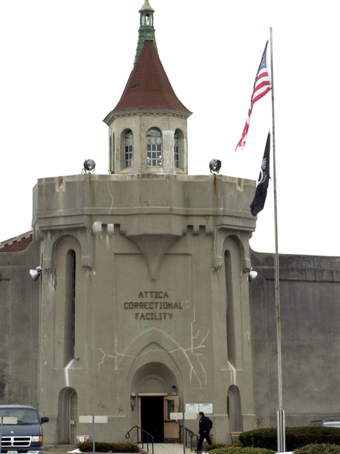 The main entrance to the Attica Correctional Facility