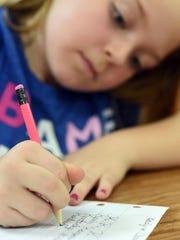 Adalynn Clonts, a third-grade student at Cotter Elementary