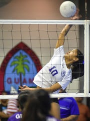 Destiny Castro, outside hitter for the Notre Dame Royals,