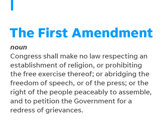 The First Amendment to the U.S. Constitution guarantees press freedom.