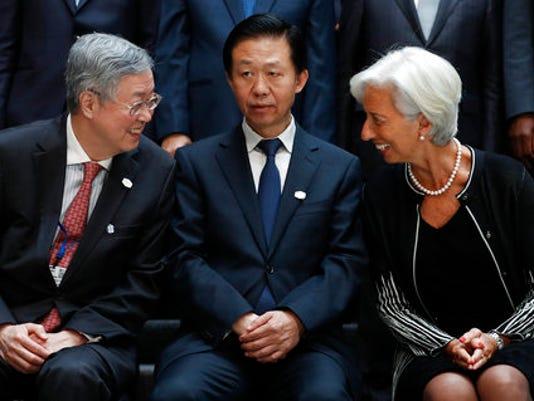 Xiao Jie, Zhou Xiaochuan, Christine Lagarde