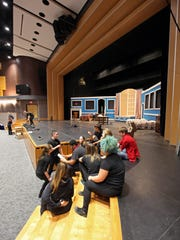 "Students at Cab Calloway School of the Arts prepare for rehearsal of the production ""Peter Pan"" in the renovated auditorium at the school Nov. 4. The official opening of the $9.8 million theater is Friday. The 400-seat space will be used for performances, meetings and events."
