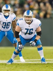 Starting right guard T.J. Lang is injured again, this time with a bad back.
