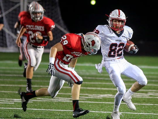 Creston receiver Michael Gonzales runs the ball during