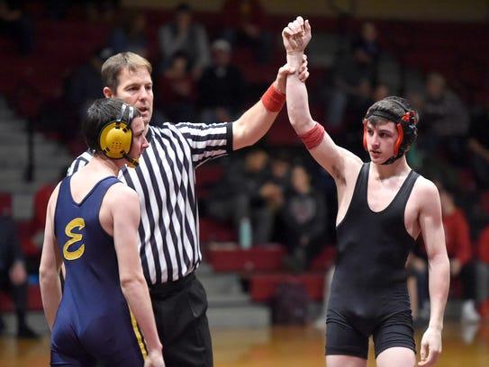 Annville-Cleona High School wrestler Zach Renninger