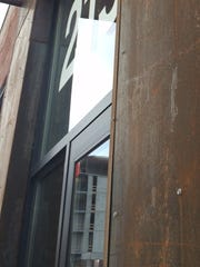 Weathered steel, a building material left intentionally rusty, was used in the renovation of the Dilley Manufacturing building on East Third Street. The East Village building was recently converted to office and restaurant space.