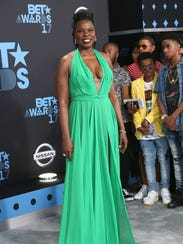 Leslie Jones at the 2017 BET Awards at Microsoft Square