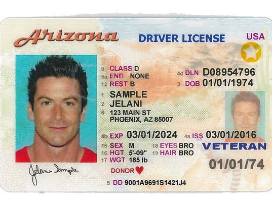 Arizona Voluntary Travel ID driver's license