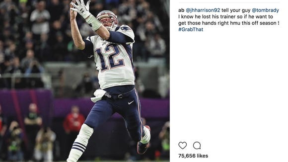 Antonio Brown invites Tom Brady to train with him after costly Super Bowl drop