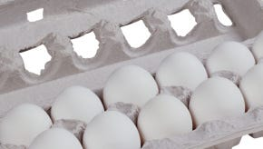 Carton of eggs.