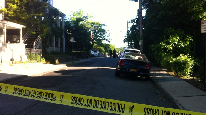 White Plains police investigate a shooting Friday morning at 4 Harmon St.
