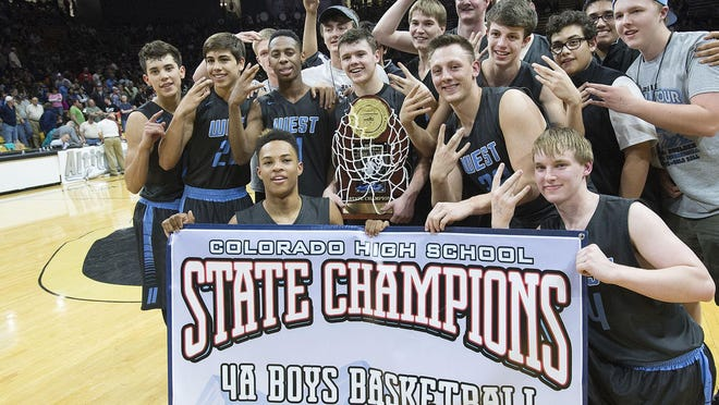 The Pueblo West High School boys basketball team defeated Valor Christian 70-51 on March 12, 2016 at Colorado University to win its first Class 4A State Basketball Championship.