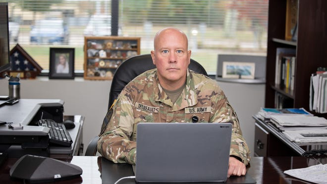 U.S. Army Col. R. Michael Tetreault commands the Rhode Island National Guard's Defensive Cyber Operations Element, a special team that has provided cybersecurity assistance to the Rhode Island Board of Elections.
