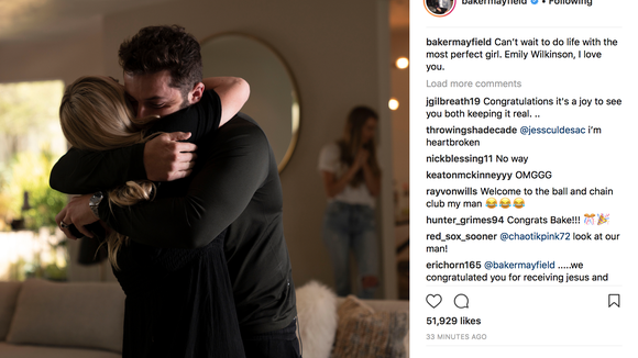 Baker Mayfield proposed to his girlfriend with stunning ring