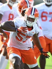 Clemson linebacker Tre Lamar (57) during the Tigers opening day of practice on Friday, August 3, 2018.
