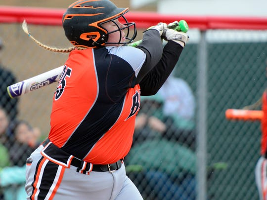 Gibsonburg's Coral Kocsis had three hits Friday, including a home run.