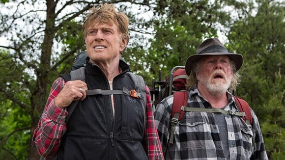 """Robert Redford and Nick Nolte star in the movie adaptation of Bill Bryson's book, """"A Walk in the Woods."""""""