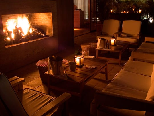 Cozy up by the fireplace at Avenue.