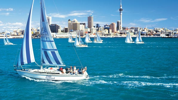 Auckland is situated waterfront on the North Island, allowing for easy access to beaches, sailing adventures and more.
